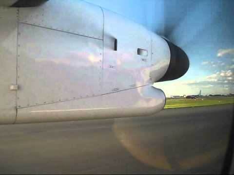 A short video taken from inside the cabin of a QantasLink (Sunstate Airlines) Bombardier Dash-8-Q400 - registration VH-QOI - as we line up and take off from ...