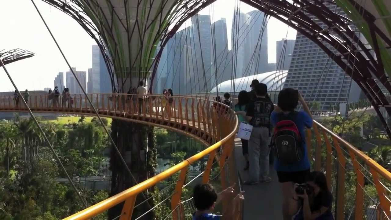 360 Degrees View Of Singapore City From Ocbc Skyway