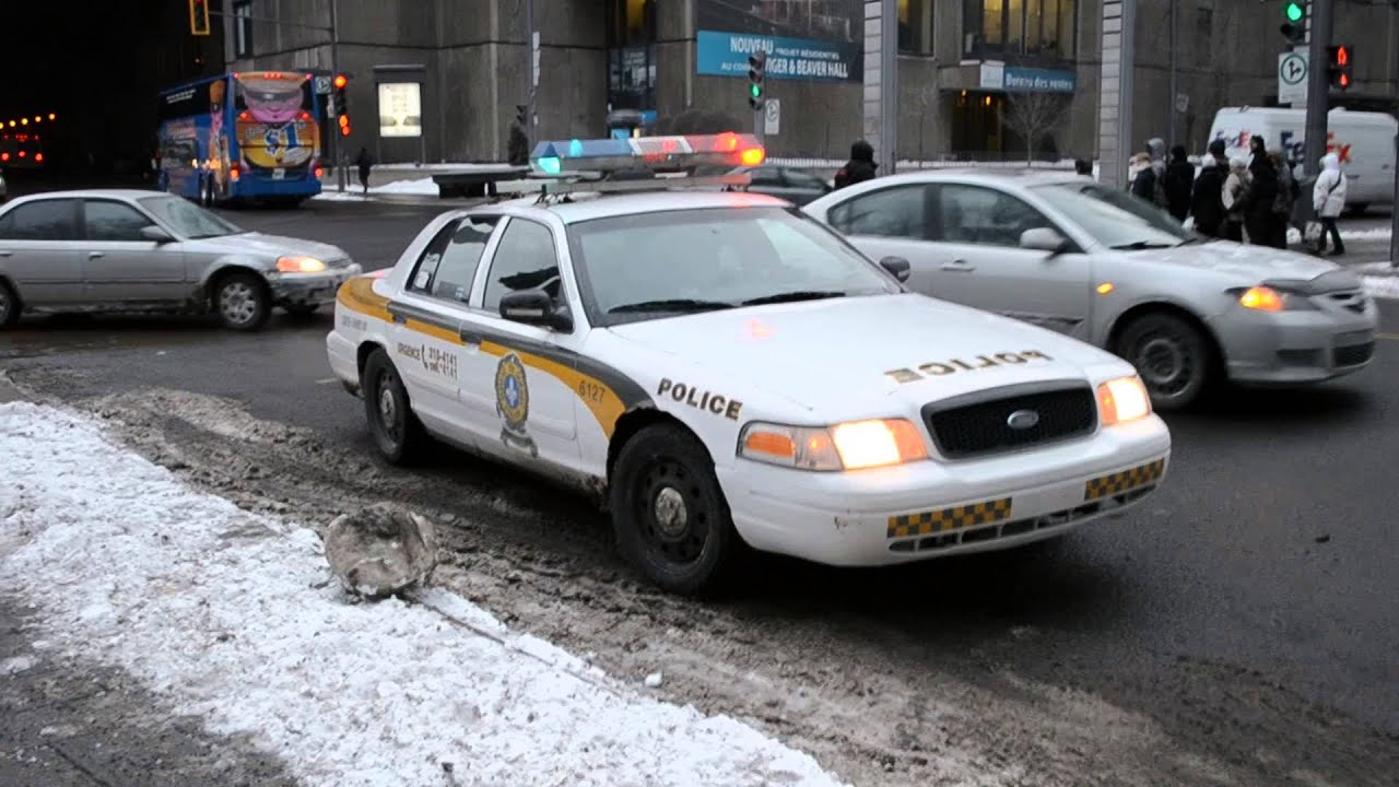 Sq Ford Crown Vic Police Car Montreal Traffic Stop Youtube