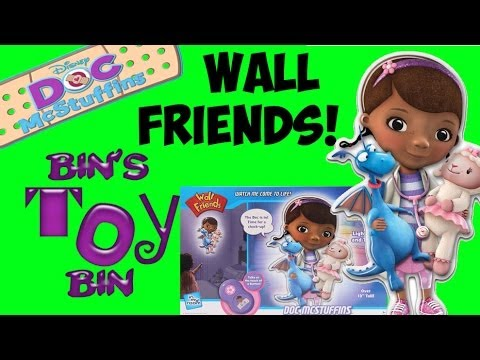 Disney DOC McSTUFFINS Wall Friends Review! CUTE Talking Light from Uncle Milton! by Bin's Toy Bin
