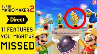 The 11 Things That YOU Might Have MISSED In The Super Mario Maker 2 DIRECT! (Analysis)