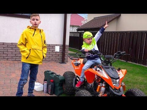 Чуть не разбился...НЕ квадрик а ЗВЕРЬ!!!New SUPER Car Ride On POWER WHEEL and Review Toys Video