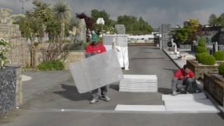 Riqualificazione di un passaggio pedonale con ghiaia stabilizzata