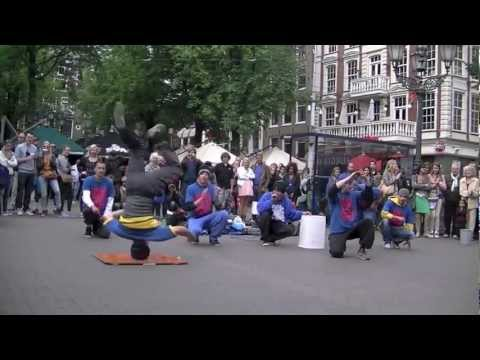 Street Breakdance Sons of God - Leidseplein Amsterdam 11 juli 2012