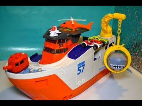 Matchbox Car-Go Shark Ship - Marine Rescue Shark Ship Toy Review