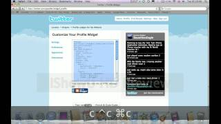 iWeb Tutorial #2 Embedding Twitter Updates To Your SIte