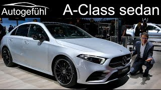 2019 Mercedes A-Class Sedan REVIEW AClass Saloon Limousine - Autogefühl