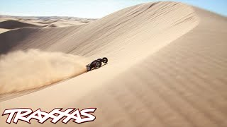 Worlds Biggest Aerial R/C Assault - Traxxas Invades Glamis