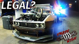 COPS LOVE the Twin Turbo LS DEATHWISH HILUX 👮