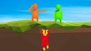 HIDING UNDER THE MAP?! - Human Fall Flat