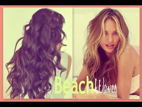 ★BEACH HAIR TUTORIAL   VICTORIA'S SECRET CURLY HAIRSTYLES - HOW TO CURL WAVES FOR MEDIUM LONG HAIR