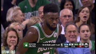 Boston Celtics 19-0 run UNCUT vs Golden State Warriors (11/16/2017)