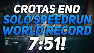 Destiny - Crota's End WORLD RECORD Solo Speedrun! (7:51)