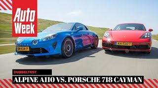 Alpine A110 vs Porsche 718 Cayman - AutoWeek Dubbeltest - English subtitles