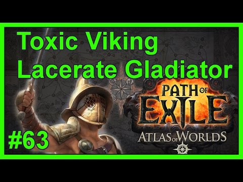 Atlas Map: Catacombs (T7) - #63 - Toxic Viking - Path of Exile: Atlas of Worlds (v2.4.1b)