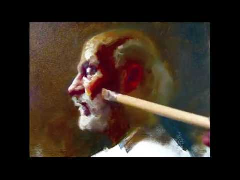 Profile of Llyod, 140 minutes alla prima painting demo by Zimou Tan