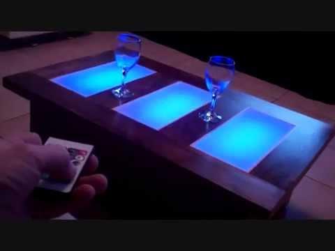 coffee table led lights unusual modern furniture
