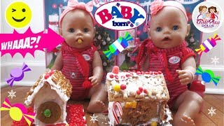 👶🏼👶🏼 BABY BORN TWINS Sneak Candy?! 🍭 Gingerbread Houses! 🏠  Day 8 - Baby Born Advent Calenda🎄