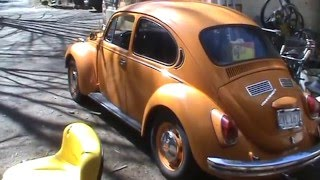 lets see what broke on the orange vw bug