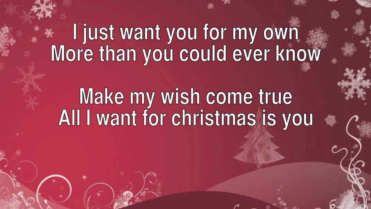 All I Want For Christmas Is You - Lyrics (HD) - YouTube
