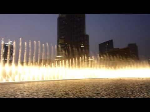 Burj Khalifa fountain in Dubai Andrea Bocelli Time to say goodbye...
