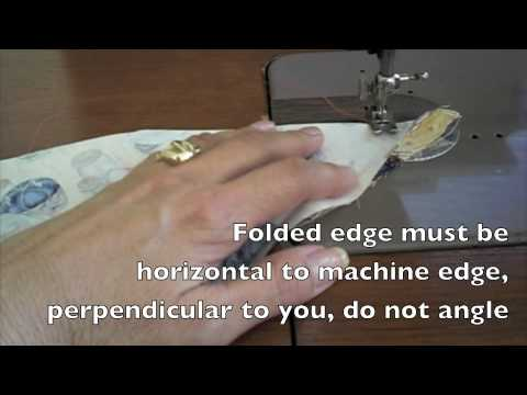 Sewing - Miter a Hem for Tablecloths. Placemats or any 90 degree angle