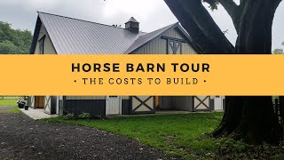 HORSE BARN TOUR + COST TO BUILD!