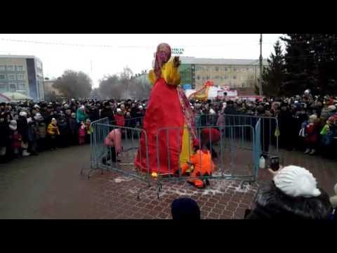 Сжигаем масленицу на главной площади. 26.02.2017. Проводы зимы.