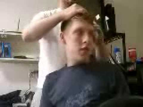 Shaggy guy gets forced Barber's Choice haircut!
