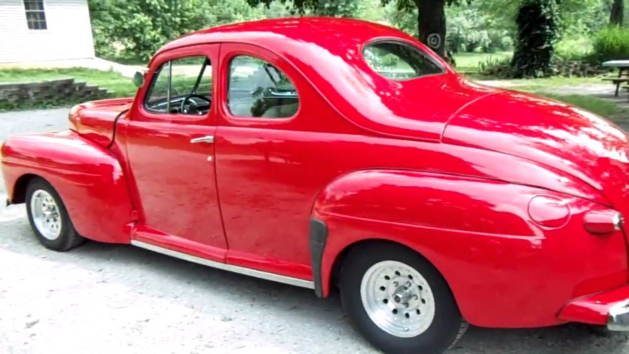 1947 Ford Super Deluxe Coupe Viper Red Custom Street Rod
