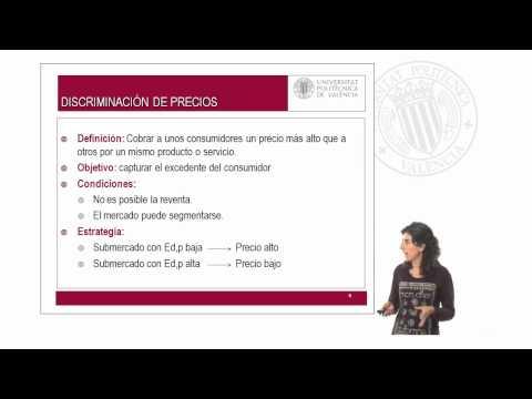 Monopolio y discriminación de precios.© UPV