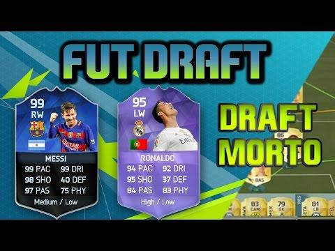 FIFA 16 FUT DRAFT COM CR7 MESSI SEM GÁS