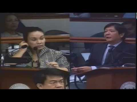 #LatestNews #Marcos Clarified Senator Loren #Legarda's Queries On #BangsaMoro Basic Law