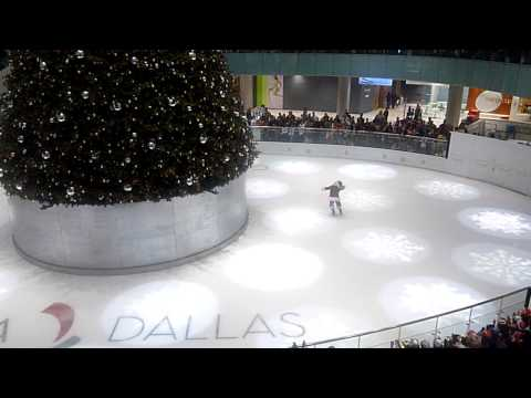 Missile Toes Santa doing back flip on ice and lighting the largest indoor Christmas tree in the U.S.