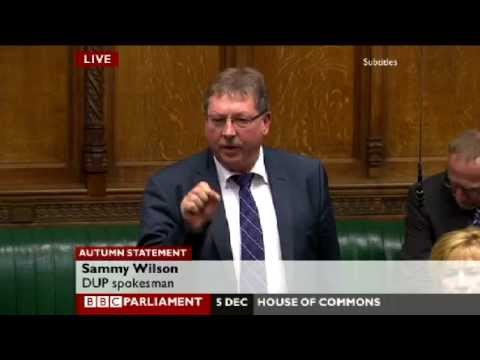 Sammy Wilson - Response to Chancellor's Autumn Statement