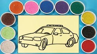 TÔ MÀU TRANH CÁT XE HƠI - Đồ chơi trẻ em Chim Xinh - Learn colors with sand painting toys