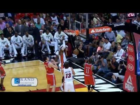 LeBron James self-pass alley oop off the backboard Dunk HD