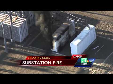 Fire continues to burn at Modesto Irrigation District...