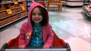 "My Little Girl Annabelle in a Shopping Cart Having Fun ""Toy Freaks"""