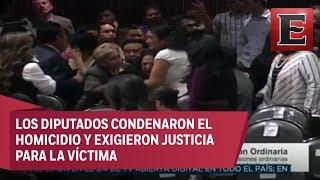Durante sesión informan a diputada del asesinato de su hija