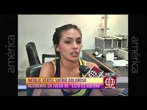 Natalie Vértiz sufrió doloroso accidente Esto es Guerra Noticias 06 03 2015