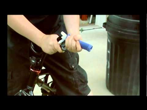How to put on BMX bike hand grips without using lube or hairspray.