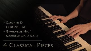 4 Classical Pieces Relaxing Piano 15min