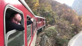 BDZ Henschel 75-006 climbs up the valley towards Tsepina with 16105 13:20 Septemvri to Dobrinishte