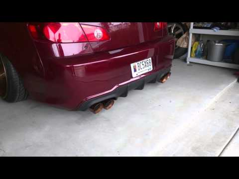 Custom bagged ,fitted, stanced,  2006 g35 sedan with custom dual exhaust.