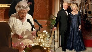 The Queen gives rare emotional speech at son Charles' 70th birthday party