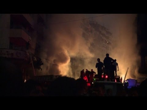 Huge car bomb strikes Hezbollah stronghold in Beirut