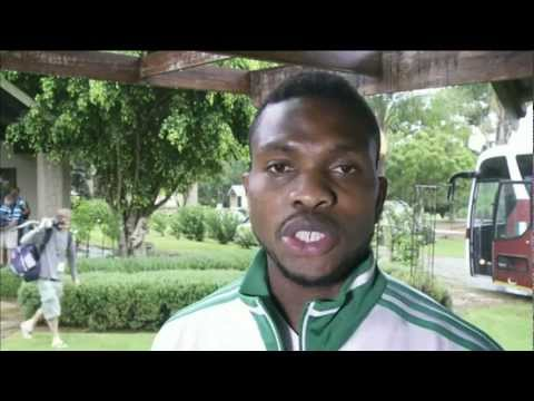 Joseph Yobo, captain of the Nigeria's Super Eagles