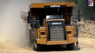 CATERPIILAR 772 Dump Truck in a Quarry / Steinbruch, Germany, 2014.