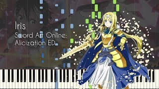 Iris By Eir Aoi Sword Art Online Alicization Ed Piano Arrangement Synthesia
